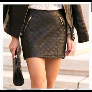 Expressed quilted skirt